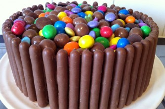 Chocolate fingers cake