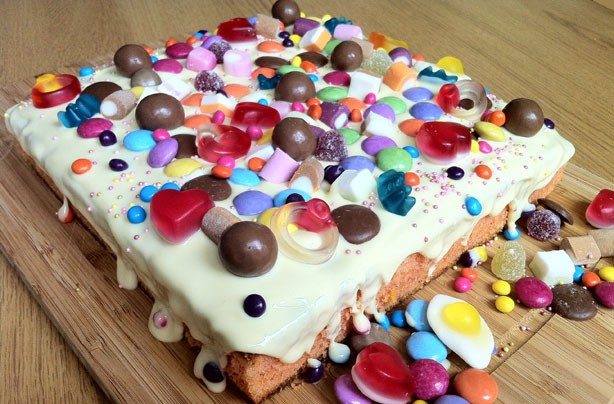 Orange and white chocolate tray bake