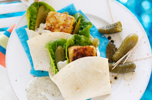 Fish burger wraps