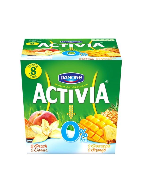 Activia 0% Fat Free Vanilla, Pineapple, Peach & Mango Yogurt