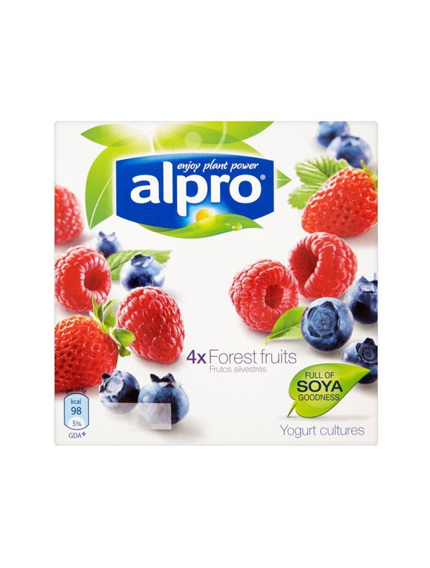 Alpro Soya Strawberry & Forest Fruits Yogurts