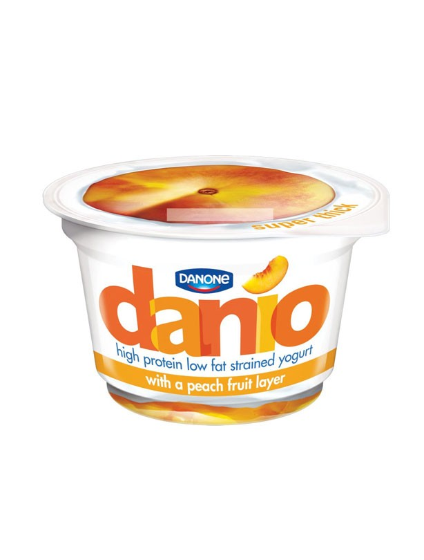 Danio Low Fat Strained Yogurt with a Peach Layer
