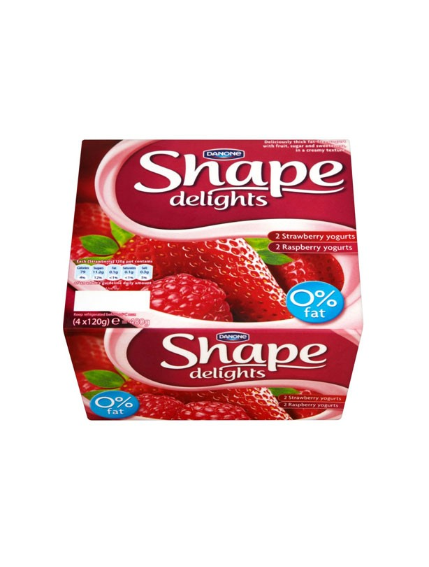 Shape Delights 0% Fat Strawberry & Raspberry Yogurt