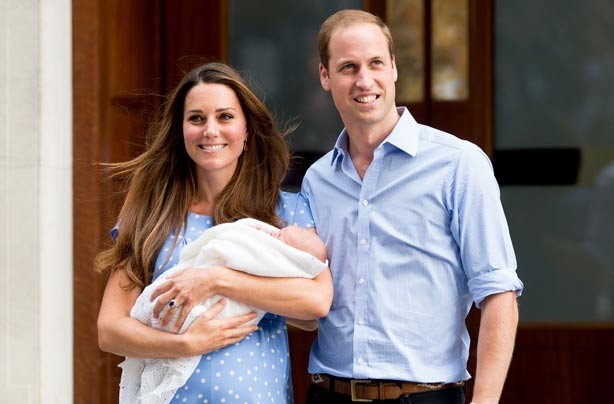 Kate Middleton and Prince William with their new baby son