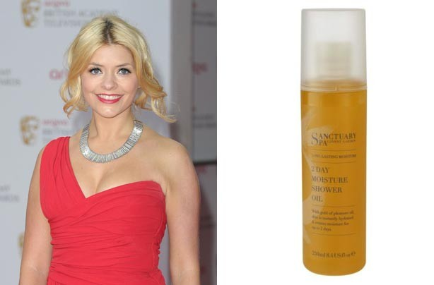 Holly Willoughby and Sanctuary Spa Shower Oil