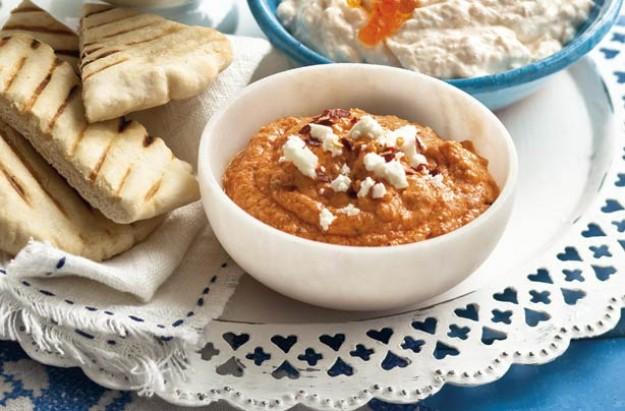 Htipiti (Greek Roasted Red Pepper And Feta Cheese Dip) Recipe ...