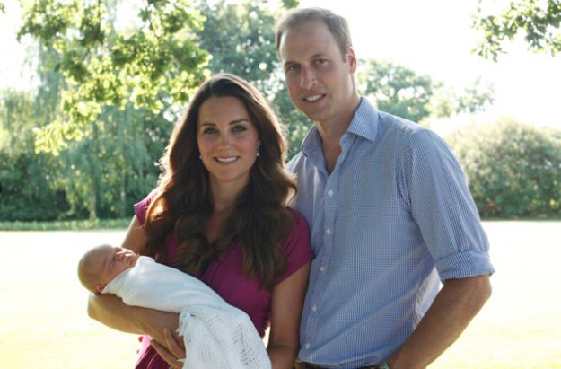 Kate Middleton and Prince William with Prince George