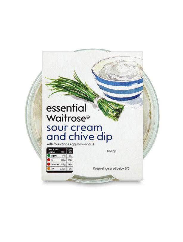 Waitrose Essential Sour Cream & Chive Dip