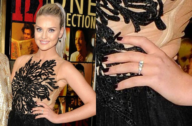 Perrie Edwards wearing her engagement ring