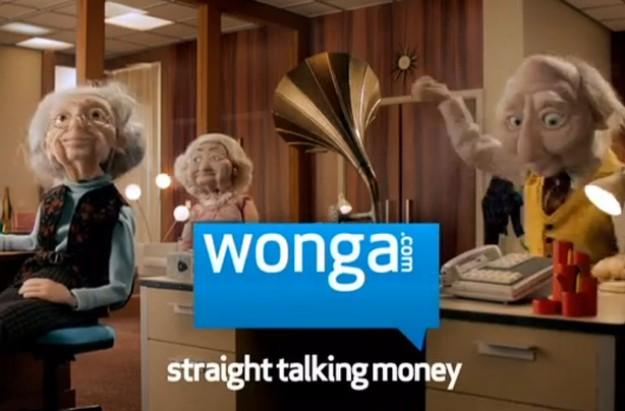 Wonga payday loan advert