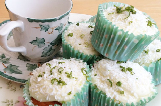Maxine's coconut and lime cupcakes