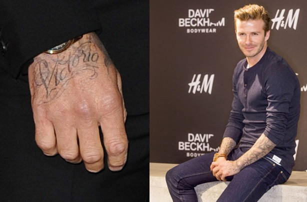 David Beckham tattoo