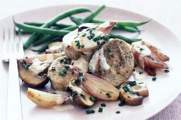 Pork and mushroom sauté