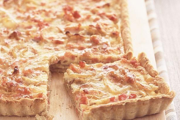 Smoked bacon and onion tart