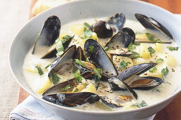 Smoked haddock and mussel chowder
