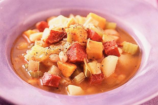 Chorizo sausage and bean stew