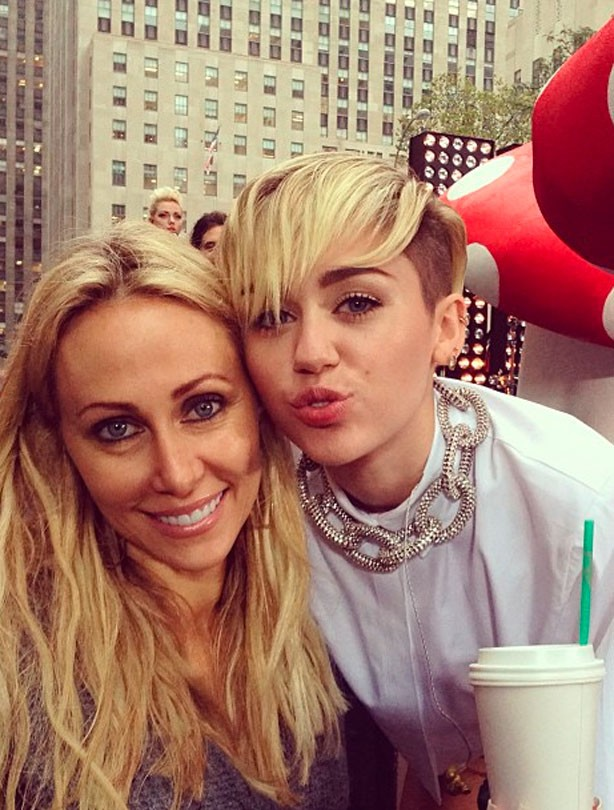 Miley Cyrus and her mum