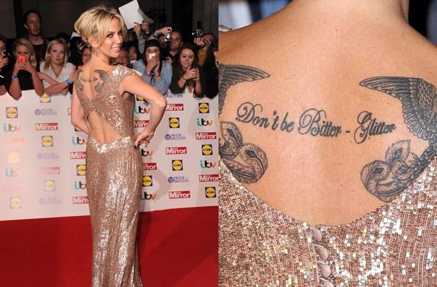 Sarah Harding tattoo