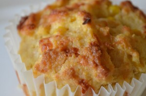 Cheese and ham corn muffins