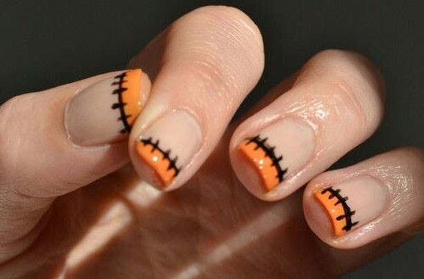 Stitched Halloween nails