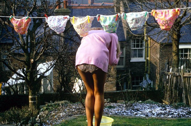 Knickers on the washing line