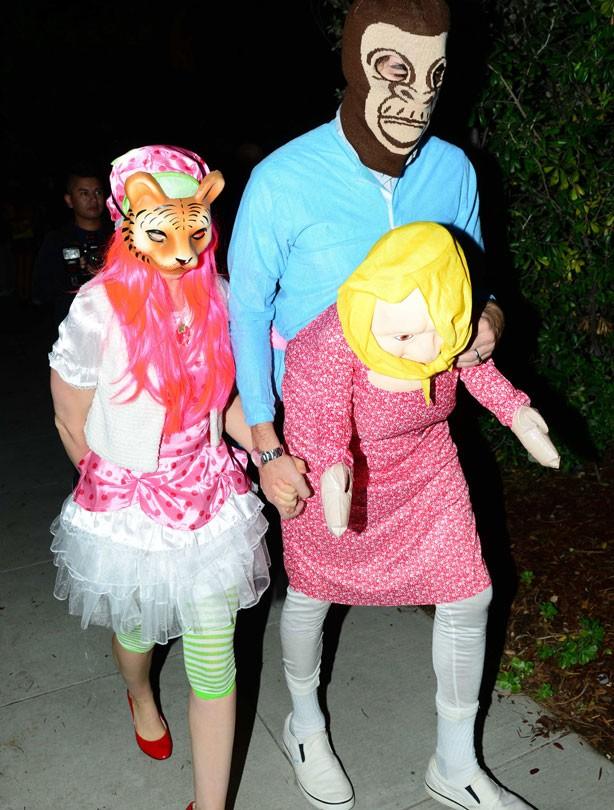 Sacha Baron Cohen and Isla Fisher for Halloween