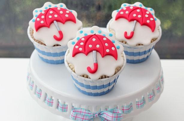 Umbrella cupcake