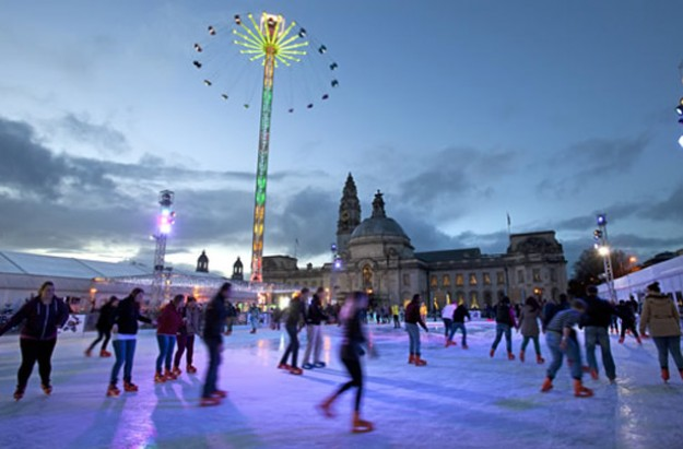 Cardiff Winter Wonderland ice rink 2013