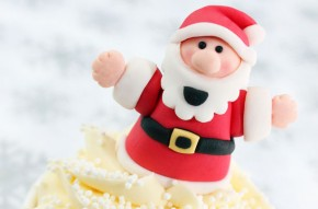 Santa cake decoration