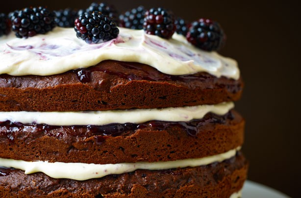 Lorraine Pascale's chocolate, Guinness and blackcurrant cake