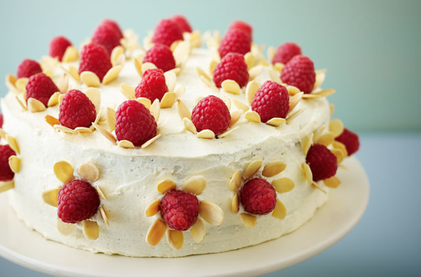 ... and white chocolate cake with almond flowers recipe - goodtoknow
