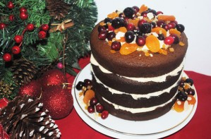 Gingerbread cake with brandy buttercream