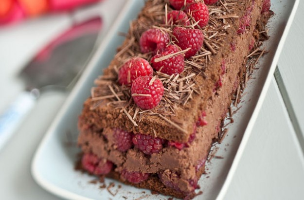 Chocolate raspberry terrine