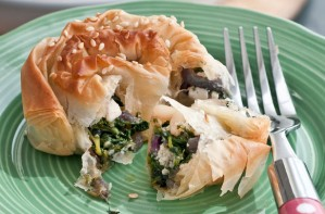 Spinach, pine nut and ricotta filo pinwheels