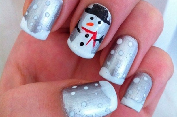 Silver snowman