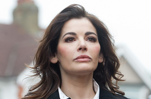 Nigella Lawson on the way to her trial