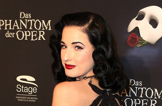 Dita Von Teese at Phantom of the Opera launch