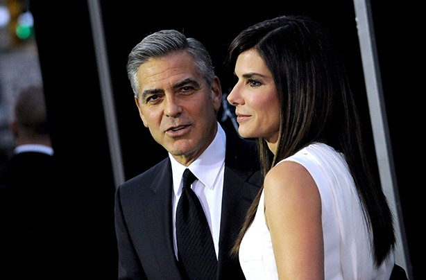George Clooney and Sandra Bullock at Gravity launch