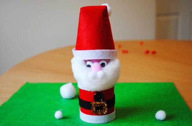 How to make Santa using loo roll