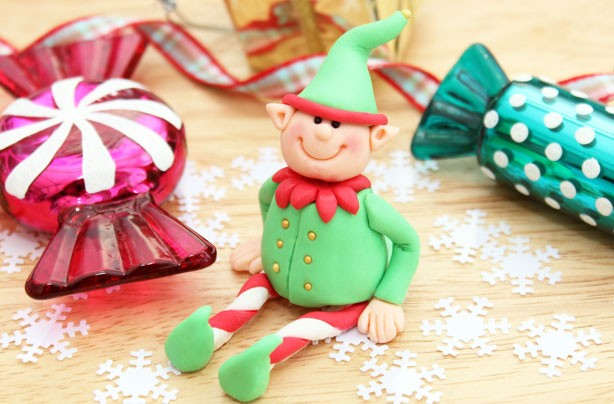 Elf cake decoration