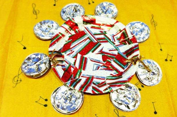 How to make a paper plate tambourine craft