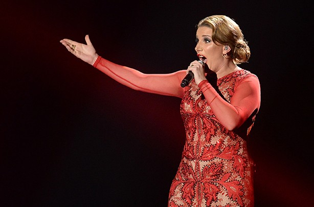 Sam Bailey performing on X Factor