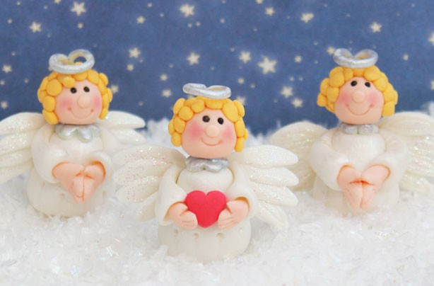 Angel cake decorations