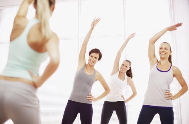 Women at an exercise class