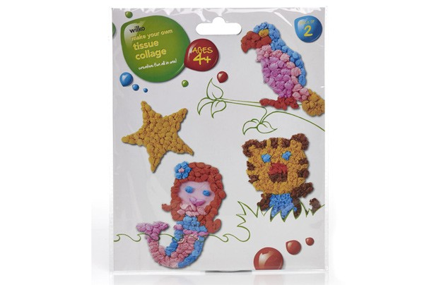 Wilko tissue collage craft kit