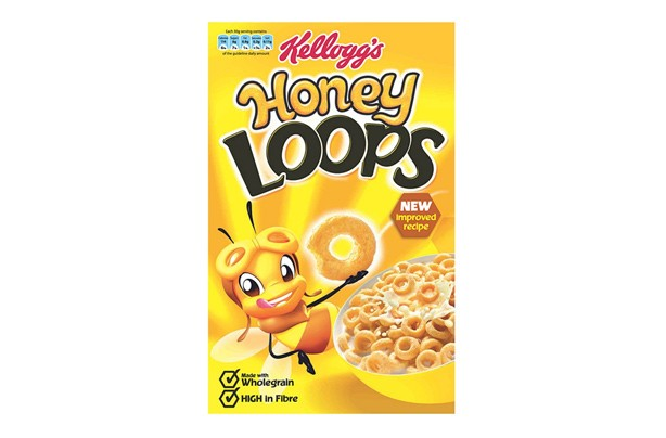 Kellogg's Honey Loops kids' cereal