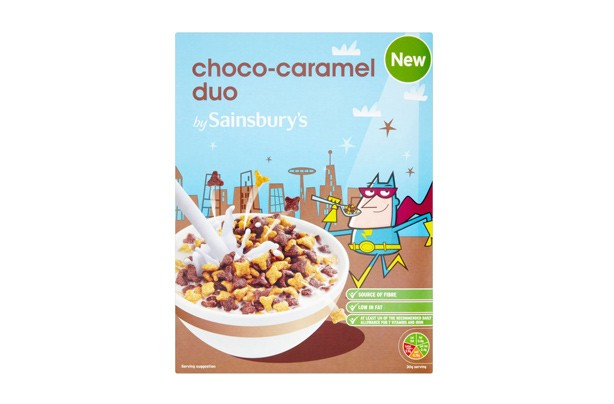 Sainbury's choco caramel duo kids' cereals