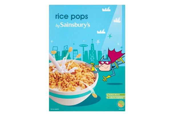 Sainsbury's rice pops kids' cereals