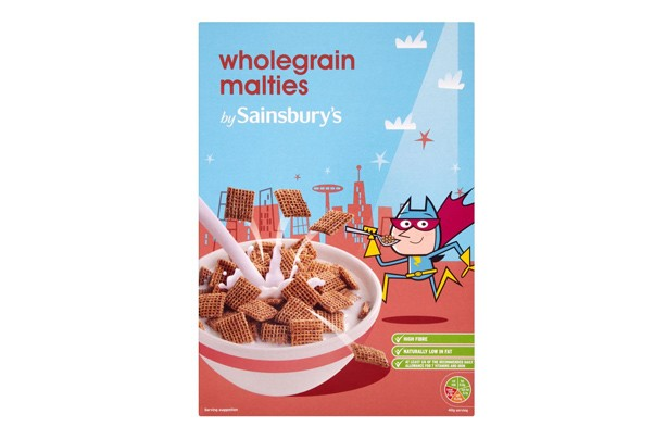 Sainsbury's wholegrain malties kids' cereals