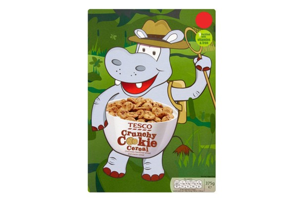 Tesco cookie crunch kids' cereall
